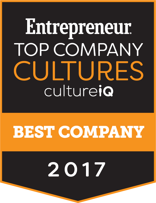 Top Company Cultures Award from Entrepreneur